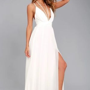 Lulus BRILLIANT BEAUTY WHITE MAXI DRESS